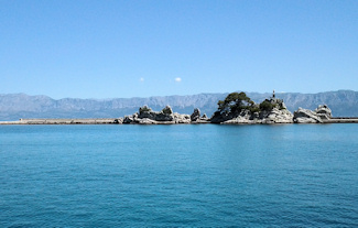Pohled z přístavu v Trpanji