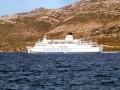 Bílé chorvatské skály a moře